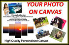 "Personalised Canvas Printing Your Photo Picture Image Printed Box Framed 34""x14"""