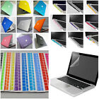 "4in1 Lot Rubberized Hard Case Cover Shell for Macbook Pro 13"" 15""/Air 11""13""inch"