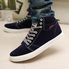 Stylish Fashion Men's Korean Version Casual Suede High Top Skater Sneaker Shoes