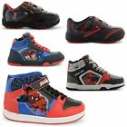 NEW BOYS KIDS HI TOP LACE UP VELCRO RUNNING TRAINERS SNEAKERS SHOES SIZES UK