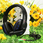 New Blue Over-Ear Headphone Stereo Headset + Mic Free Shipping US