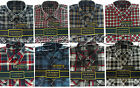 Mens Flannel Lumberjack Check Brushed Cotton Work Shirt M - XXL