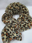 SOFT FAUX FUR BROWN BEIGE ANIMAL LEOPARD PRINT LADIES FASHION SCARF UK SELLER