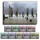 Misty Pier Sea Sunset Landscape Box Framed Canvas Art Print Picture 8