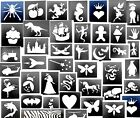 5 x midi stencils-choose from drop down menu 4-7cms Top up ur glitter tattoo kit