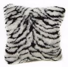 Fi708a White Zebra/Tiger Thick Faux Fur Cushion Cover/Pillow Case*Custom Size*