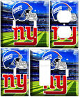 NEW YORK GIANTS NY NFL FOOTBALL SUPER BAWL CHAMPIONS LOGO COVER WALL PLATE COMBO $11.99 USD on eBay