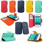 Color Slim Fit Wallet Pocket Flip PU Leather Case Cover For Many Phones Model