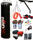 MADX Kids 10pc Boxing Set 3ft Filled Heavy Punch Bag,Gloves,Bracket,Chain MMA