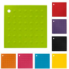 NEW SILICONE TRIVET MAT HEAT RESISTANT PAN HOLDER IRON STRAIGHTENER COLOURS