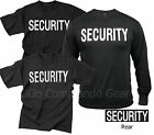 Security T-Shirt Tees Event Bouncer Staff Double Sided Black Tee Shirts S-8XL image