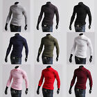 k m1 Mens light weight thin soft warm cotton blend turtle neck polo neck jumper