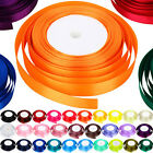 High Quality 22 Metres Of Satin Ribbon 15mm In Multiple Colours Sold By Rolls