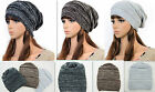 New Unisex Winter Warm Knit Slouchy Baggy Beanie Beret Hat Oversized Ski Cap K