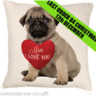 I Love You Puppy Pug Cushion | Add  own text choice | Gift | Pug Gift | Cute Dog
