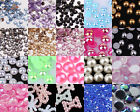Crystal Rhinestones Gems Resin AB Pearl Nail Art Phone Scrapbook Craft Decor #B