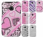 For Alcatel One Touch Evolve Snap On Girly Diamond Hard Cover Case Accessory