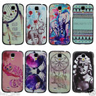 Aztec Ornate Elephant Cat Animal Print Art Hard Case For Samsung Galaxy S4 i9500