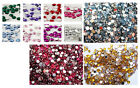 1000 2mm ROUND Rhinestones Nail Art Tips Cards Flat Back More Colours Decor