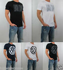 NWT AX Armani Exchange Men Slim Fit Negative Space Double Logo pima Tee T Shirt