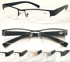 L401 3 Pairs Superb Mens Semi-Rimless Reading Glasses/Metal Frame & Plastic Arms