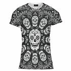 Mens Skull Print Tee T Shirt Top