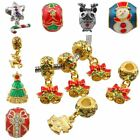 Wholesale Chrismas Xmas Crystal Rhinestone Enamel Beads Fits EP Charms Bracelet