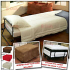 Foldable Portable Ottoman Camping Travel Bed Sofa Stool Lounge w/ Cover +Casters
