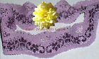 """5 Yards Lilac/Purple 1-3/4"""" Stretch Floral Lace D24V Added Items Ship FREE"""