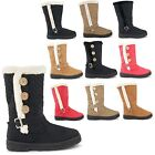 NEW LADIES FAUX FUR LINED WATERPROOF SOLE WINTER SNOW CALF BOOTS SIZE UK 3-8