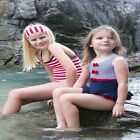New Mitty James nautical girls swimsuit/swimming costume - navy with red bows