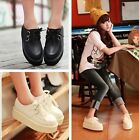 WOMENS LADIES Retro Platform Lace Up Flats Creepers Goth Punk Shoes UK Size 3-6
