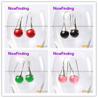Fashion jewelry 12mm round beads tibetan silver dangle earring 1 pair for girls
