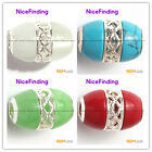 Nicefinding Pretty new 12.5x17mm beads silver pendant 1 pcs FREE gift box +chain