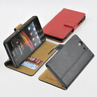Genuine Leather Wallet Case Card Holder Cover OL for Sony Xperia Z / L36H