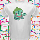 New Cute Bulbasaur Green Pokemon Men's White T-Shirt Size S-3XL