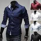 Hot Sell Mens Luxury Casual Slim Fit Dress Long Sleeved Shirts 5 Colors U Pick