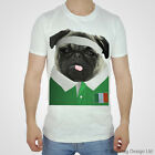 Ireland Rugby Tshirt Pug T-shirt Irish World Cup Sport White Cute 2017 Shamrock