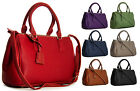 New Designer Like Womens Faux Leather Multi Zip Pockets Satchel Handbag Purse