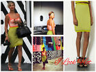 Topshop Knitted Textured Stitch Skirt – Chartreuse Size 6,8,10,12UK/2,4,6,8USA