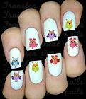 30 CUTE OWLS NAIL ART DECALS STICKERS TRANSFERS PARTY FAVORS MULTICOLOURED