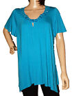 NEW LADIES M&Co PLUS SIZE JEWELLED TUNIC TOP BLOUSE SIZE 18, 20, 22, 24, 26, 28