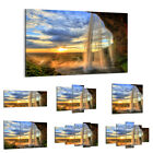 47 Shapes Canvas Picture Print Wall Art Landscape Waterfall Mountains Sun 2716 E