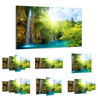 47 Shapes Canvas Picture Print Wall Art Waterfall Sun Forest Landscape 0157 E