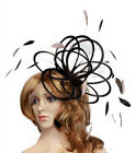 Black & Taupe  Nude  Feather Fascinator Hat  Choose any colour Satin & Feather