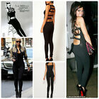 Celebrity Style Slash Back Dance Unitard Leotard Jumpsuit Size 8,10,12UK/4-8USA