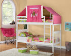 TWIN OVER TWIN MISSION TENT BUNK BED--WHITE