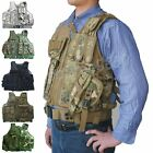 Detachable Multi-pocket Tactical Mesh Vest Combat Waistcoat Free Waistband