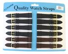 Wholesale Job Lot 12 x Crocodile Skin Embossed Genuine Leather Watch Strap
