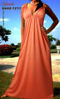 New Womens Angela Summer Maxi Cocktail Party Dress Sz 2XL18 20 Tangerine